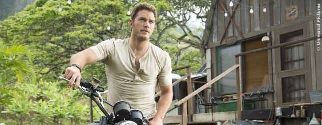 Chris Pratt ist dieses Mal der Gegner der Dinos.