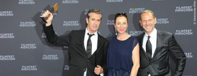 Rupert Everett, Diana Iljine (Festival Direktorin), Markus Zimmer (Geschäftsführer Concorde Filmverleih)