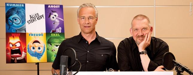 Klaus-Jürgen Behrendt und Dietmar Bär bewachen Rileys Unterbewusstsein. Perfekter Job für die Tatort-Komissare!