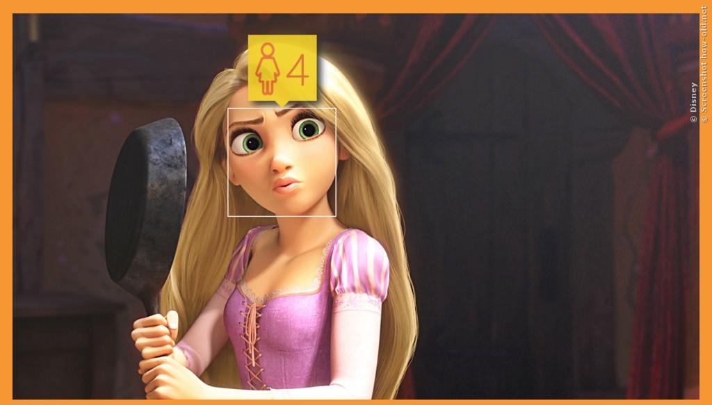 Rapunzel holt direkt mit der Pfanne aus!