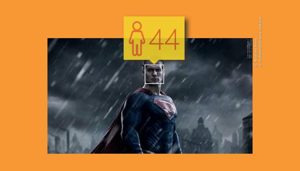 Superman kann froh sein, dass er noch so viele Haare für seine Gelfrisur hat!