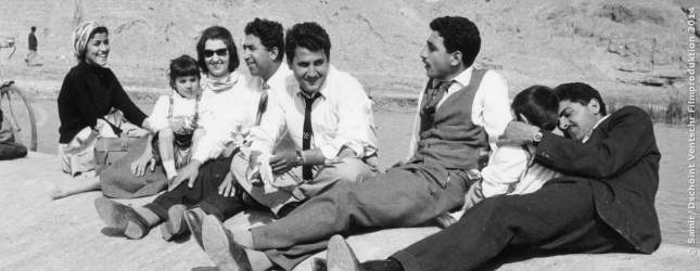 Zusammenkunft zu einem Familienpicknick in der Nähe von Bagdad. 1959, ein Jahr nach der Revolution.