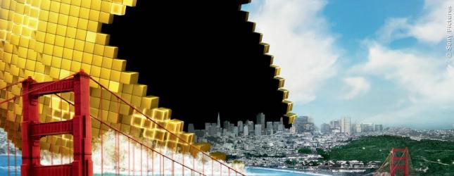 Pac-Man beginnt mal eben die Erde aufzufressen. Waka-Waka!