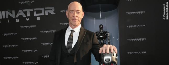 Schauspieler J.K. Simmons war ebenfalls auf der Terminator 5 Premiere in Berlin.