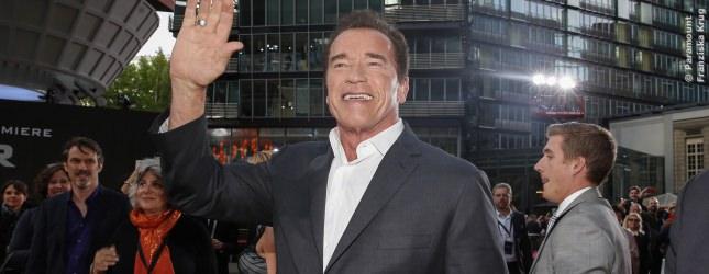 Arnold Schwarzenegger, der Ur-Terminator, war auch in Berlin und hat sich sehr über seine Fans gefreut.