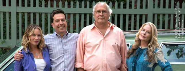 Oma und Opa (rechts) übergeben die Chaos-Verantwortung an die nächste Generation Griswold.