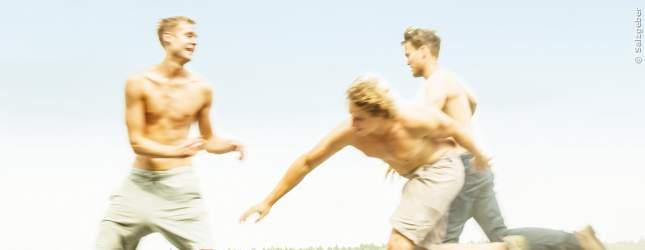 Phillip, Jonas und Boris haben viel Spaß auf ihrer Tour.