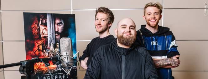 Die ApeCrime Jungs bei den Synchronisationsarbeiten zum Warcraft Kinofilm.