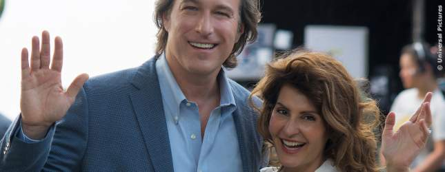 John Corbett und Nia Vardalos bei den Dreharbeiten zum Film.