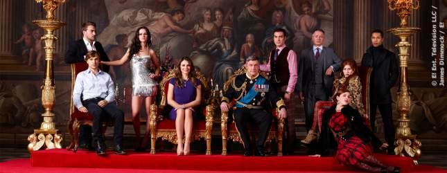 Portrait der fiktiven königlichen Familie aus der Serie The Royals.