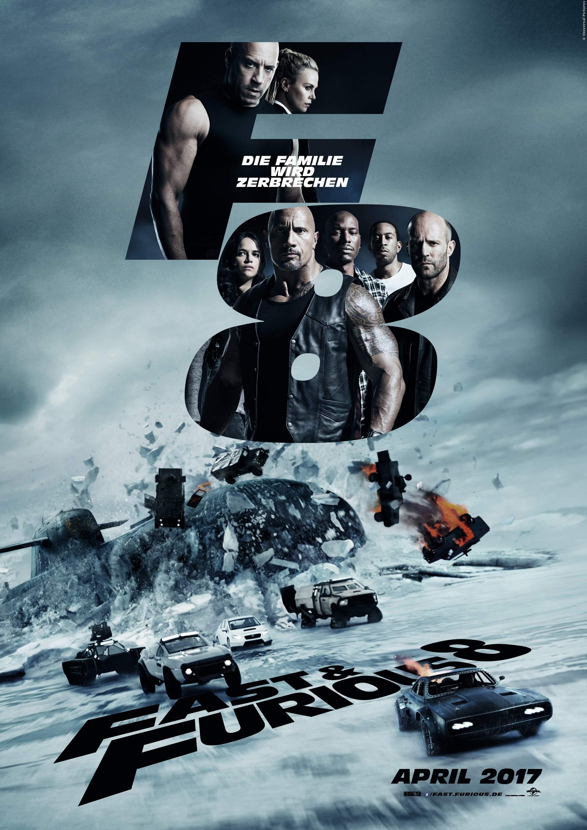 Fast And Furious 8: Neues Filmplakat mit den Stars - Bild 1 von 1