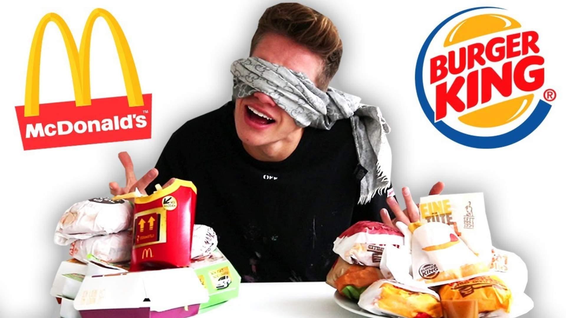 VIDEO: 'McDonalds' vs 'Burger King' blind erraten! Das Ende kommt überraschend!
