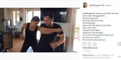 Jennifer Garner und ihr Training