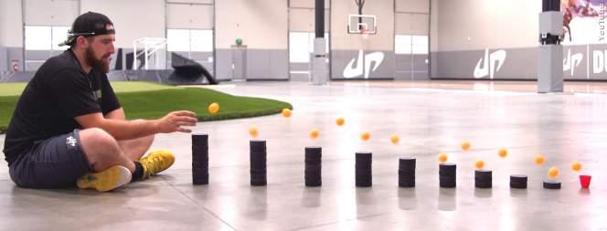 Trick-Shots mit Tischtennisbällen