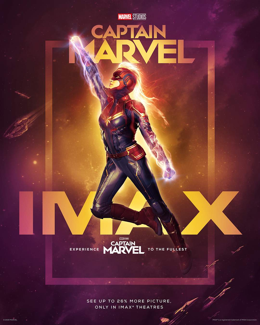 Das IMAX-Plakat von Captain Marvel