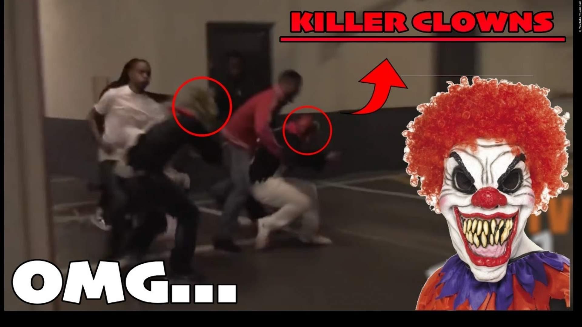 VIDEO: 'Killer Clowns' werden heftig verprügel - Streich geht schief