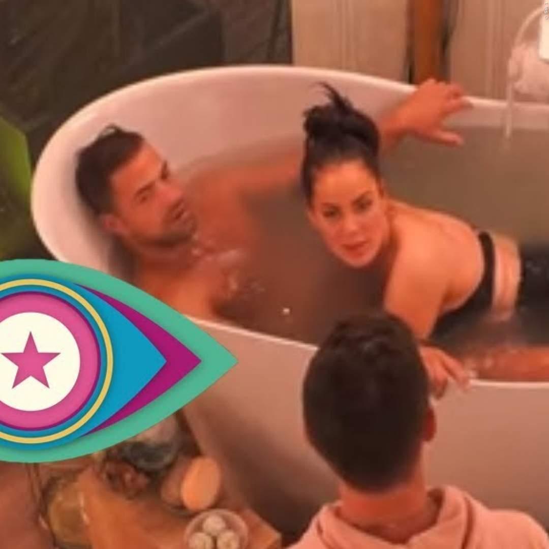 BIG BROTHER: Janine & Tobis erster Kuss! - Video aus der Badewanne