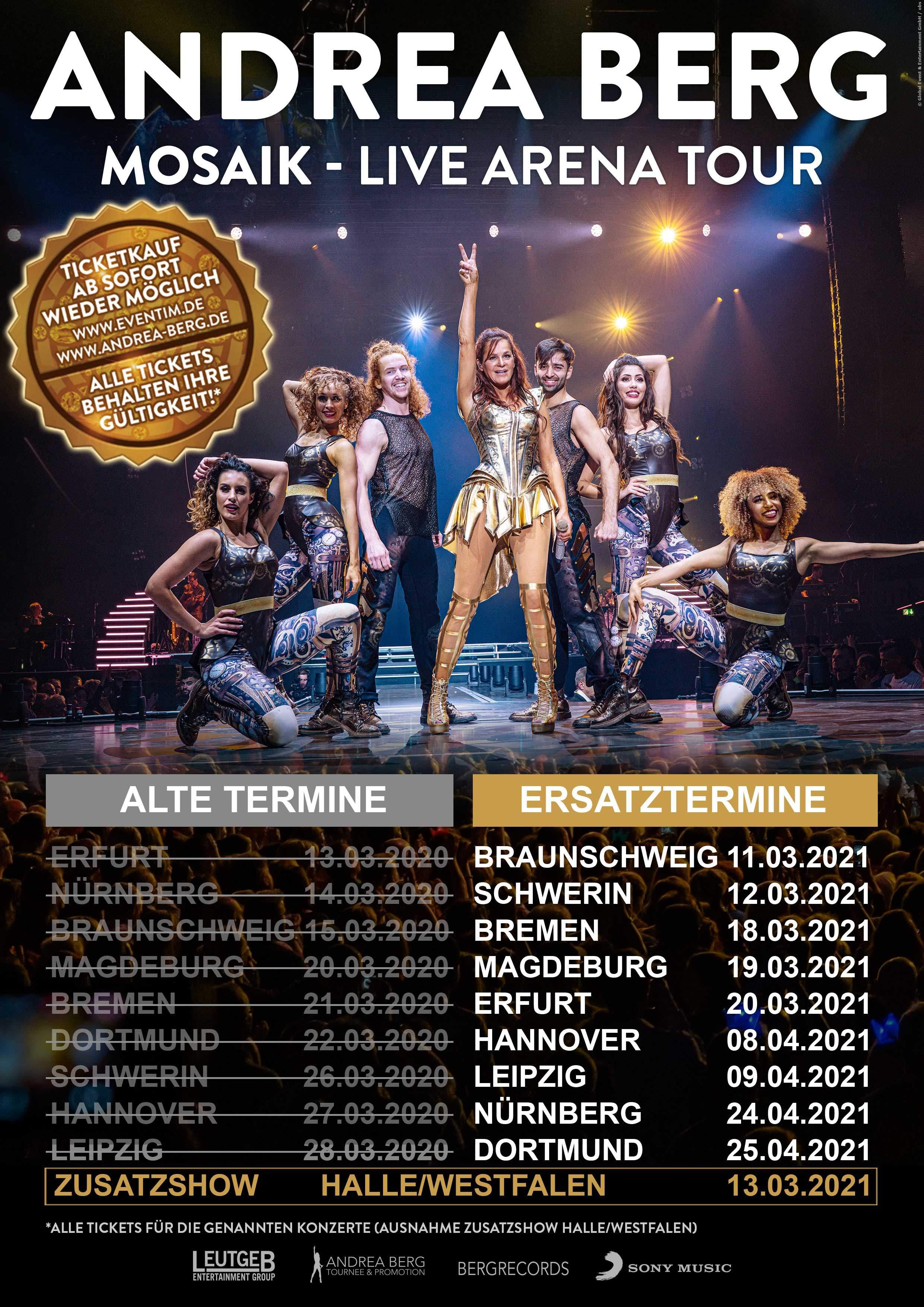 Die Andrea Berg Tournee in der Übersicht