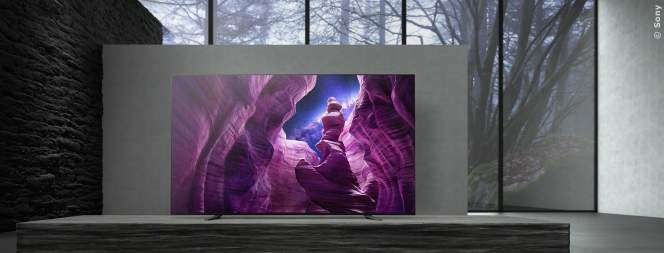 4K HDR OLED-Fernseher der A8-Serie von Sony