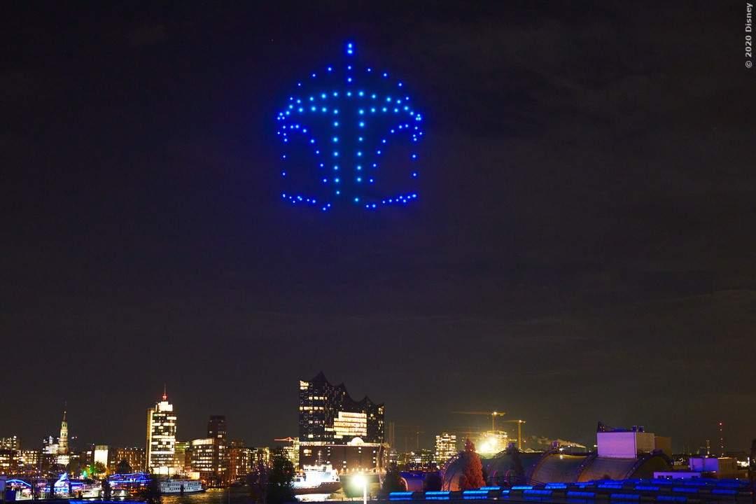 Drohnen Stunt über Hamburg