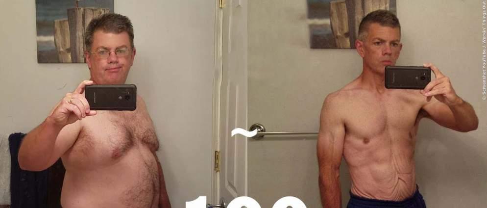 So hat dieser Mann in einem Jahr 50 Kilo abgenommen - Es brauchte nur eine kleine Veränderung in seinem Kopf
