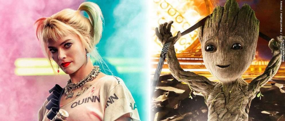 Harley Quinn und Groot in einem Film? James Gunn will das Marvel & DC Crossover