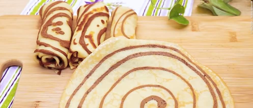 Schnelle gestreifte Pfannkuchen: Tutorial zum Nachmachen