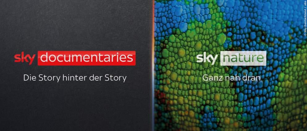 Neue Sendermarken Sky Nature und Sky Documentaries starten