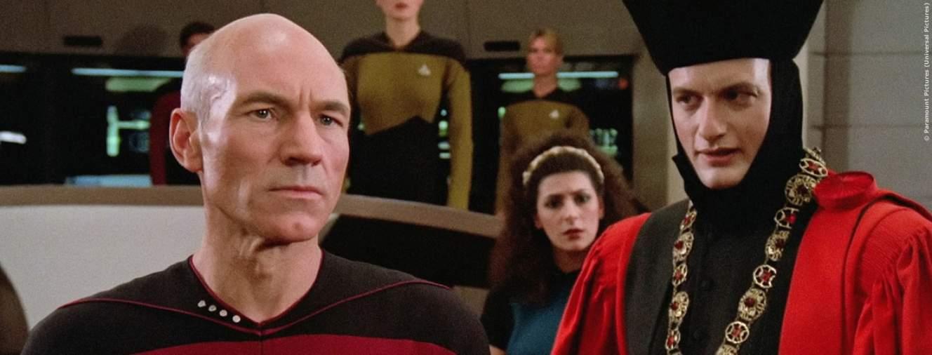 Picard und Q in Star Trek