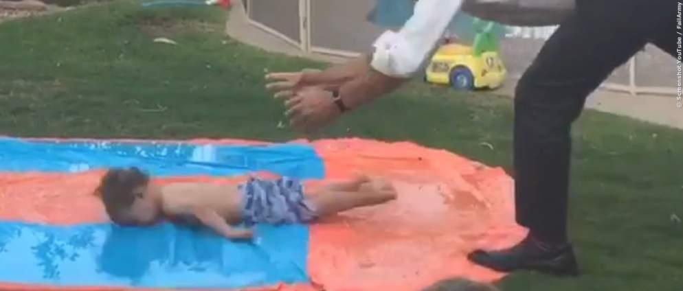 Lustiges Video: Papas, Babys und alles geht schief