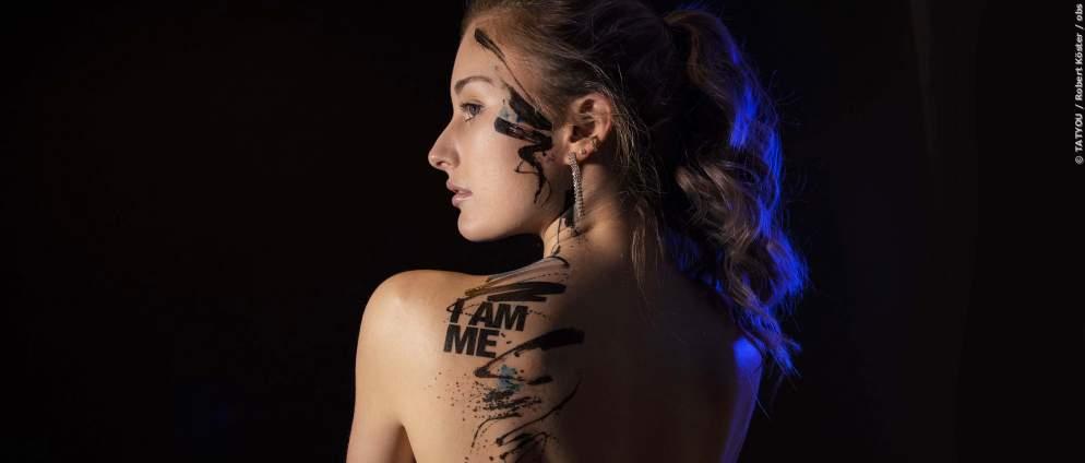 Ein echtes Tattoo Probe tragen - das geht!