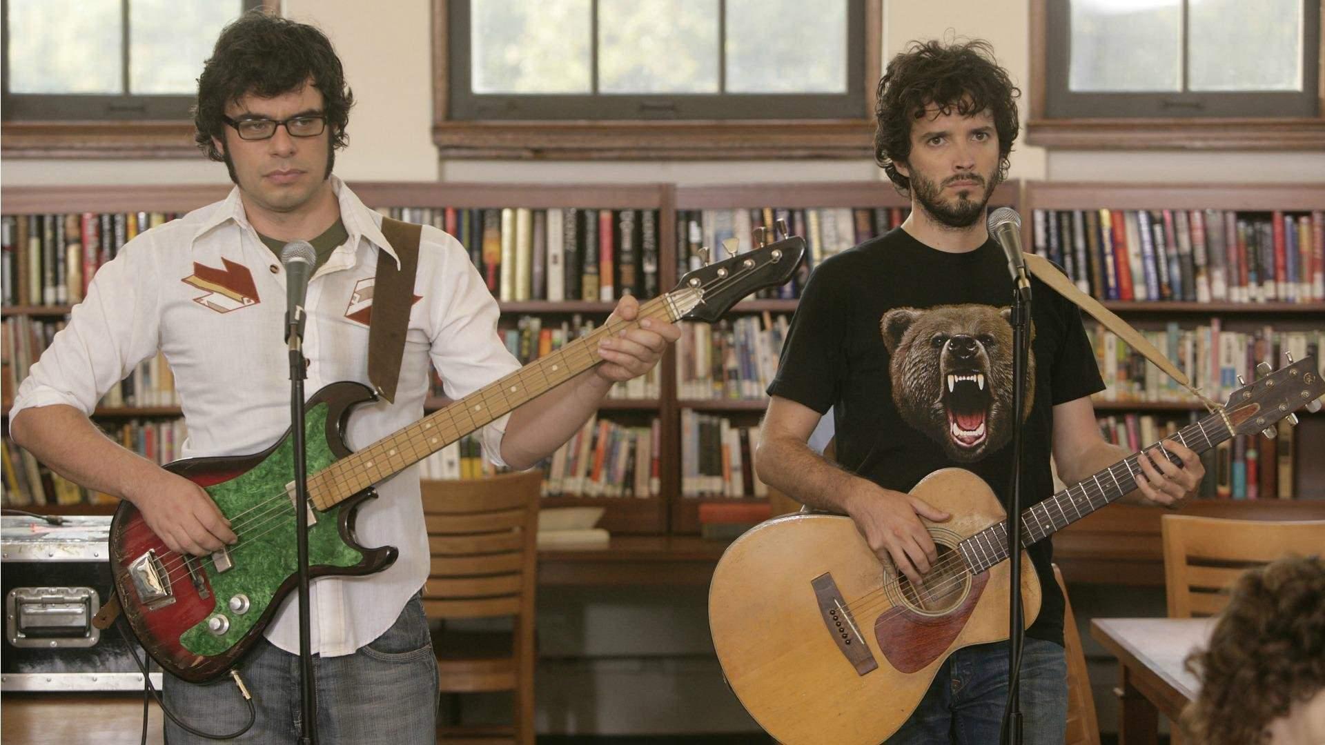 2007: FLIGHT OF THE CONCHORDS, eine Musik Duo aus Neuseeland das sein fiktives Leben in einer Comedy Serie zeigt. Real trifft Drehbuch.
