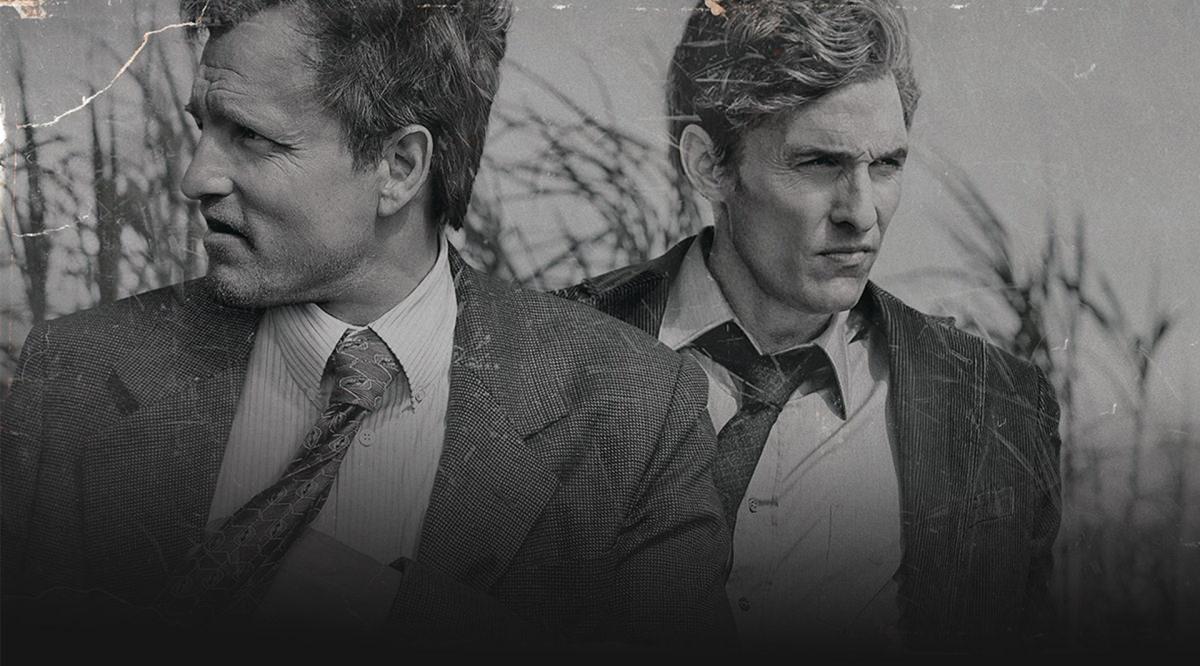 2014: TRUE DETECTIVE, Woody Harrelson und Matthew McConaughey als traumhaftes Ermittlerpaar mit vielen schrägen Eigenheiten.